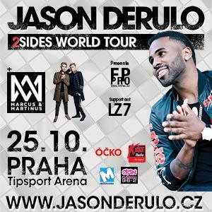 Jason Derulo vystoupí v Praze