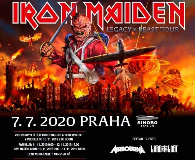 Iron Maiden se vrací do Prahy