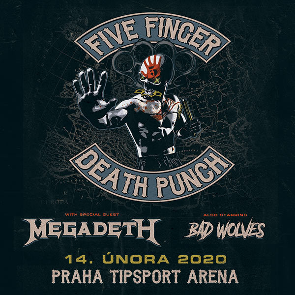 Do Prahy přijedou Five Finger Death Punch